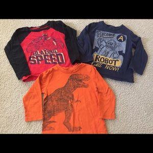 Baby GAP 3Y Dinosaur Shirts Robot Blue Orange
